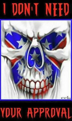 Skull n rebel flag Southern Heritage, Southern Pride, Southern Style, Totenkopf Tattoos, Skull Pictures, Bild Tattoos, Confederate Flag, Airbrush Art, Skull Design