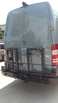 #Aluminess rear bumper with swing arms for tire and storage box #Mercedes # Sprinter
