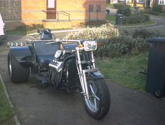 The only remaining photo of Mr Gecko's 1969 Daimler Dart engined trike. A scary fast ride but fun, must say though that i prefer bike engined trikes.