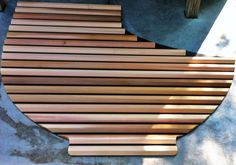 Custom shape Great Northern® Western Red Cedar Roll-Up® Cover (unsealed wood) Hot Tub Cover, Western Red Cedar, Traditional, Wood, Hot Tubs, Shape, Spa Baths, Woodwind Instrument