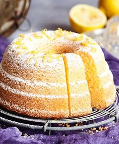 Sitruunakakku | Maku Baking Recipes, Cake Recipes, Dessert Recipes, Desserts, Sweet Bakery, Sweet Pastries, Food Tasting, Little Cakes, Pastry Cake