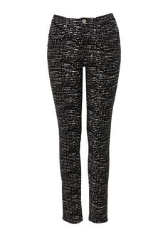 Trousers with square print for work with a blazer or casual