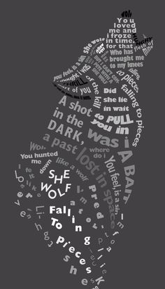She wolf (falling to pieces) by liquidanims Typography