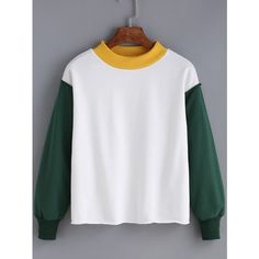 Women Color-block Loose Sweatshirt ($17) ❤ liked on Polyvore featuring tops, hoodies, sweatshirts, multicolor, cotton sweatshirts, loose sweatshirt, colorful sweatshirts, loose tops and long sleeve cotton tops