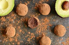 These creamy, dark chocolate avocado truffles are raw, Paleo and vegan-friendly. They're easy to make and full of healthy fat, fiber and antioxidants! Paleo Dessert, Vegan Desserts, Raw Food Recipes, Dessert Recipes, Chocolate Truffles, Chocolate Desserts, Homemade Truffles, Dessert Cookbooks, Truffle Recipe