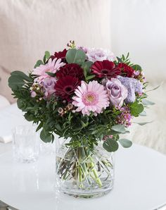 Denne vakre blomsterbuketten er en perfekt gave til mamma.