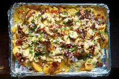 BBQ Pulled Pork Nachos for Game Day Not our recipe but may change it up next time!