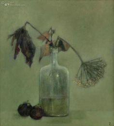 Pieter Knorr Still Life, Watercolour, Glass Vase, Illustrations, Bottle, Artist, Artwork, Painting, Pen And Wash