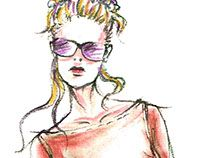 "Fashion illustrations / Fashion Design by Anastasiya Wenzel for Fashion Magazine ""Damen Rundschau"" and Fashion Magazine ""Ателье"""