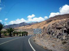 On the road. Fuerteventura