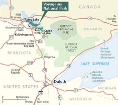 Map of the voyageurs route - Google Search