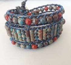 Spirited earth designs leather wrap bracelet