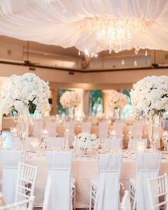 "1,308 Likes, 11 Comments - Inside Weddings (@insideweddings) on Instagram: ""A white and blush wonderland! (: Jennefer Wilson Photography, Floral design: @BFLive) . . . .…"""