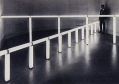 Original installation of greens crossing greens (to Piet Mondrian who lacked green), 1966, at the Stedelijk van Abbemuseum, Eindhoven, Netherlands