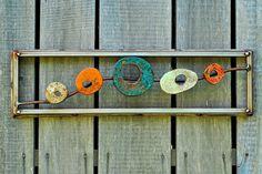 Abstract Metal Wall Art Rustic Metal Art Vintage by DropMetal, $275.00