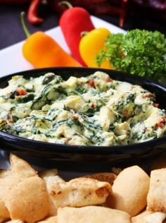Spinach Artichoke Dip - Something green that's awesome for St Patty's day party.