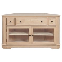 """Whittier Wood Furniture - 2075AUF - 54""""W Corner Media Console"""