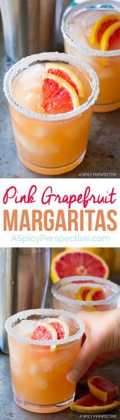 Perky Pink Grapefruit Margarita Recipe | http://ASpicyPerspective.com