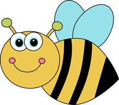 Cute Cartoon Bee Clip Art Image - cute cartoon bee with big eyes, pink ...