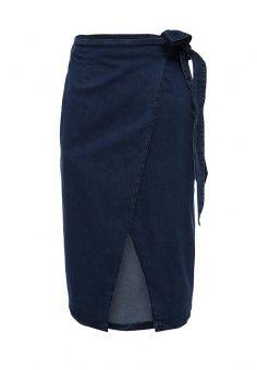 Юбка джинсовая LOST INK, цвет: синий. Артикул: LO019EWGIS67. Женская одежда / Юбки / Джинсовые юбки