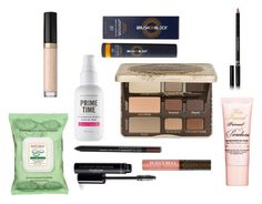 """""""My Makeup Routine"""" by bowbeauty01 ❤ liked on Polyvore featuring beauty, Too Faced Cosmetics, Bare Escentuals, Burt's Bees, Brush On Block and Givenchy"""