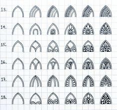 "Paridhi Jawandhiya | Mandalas on Instagram: ""Pattern Sheet - 6 . #mandalapatterns . Some more step by step patterns for an intricate mandala! . #mandala #mandalaoninstagram…"" Doodle Zen, Zen Doodle Patterns, Mandala Doodle, Doodle Art Designs, Mandala Pattern, Zentangle Patterns, Doodle Borders, Easy Mandala Drawing, Simple Mandala"