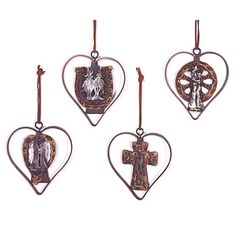 Heart Western Christmas Tree Ornament Set | MonsterMarketplace.com