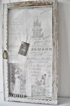 I would love a vintage White Christmas collaged display like this.