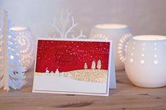 Karte, Weihnachten, Schlittenfahrt, Christmas, basteln, stampin, https://www.facebook.com/Colorspell/