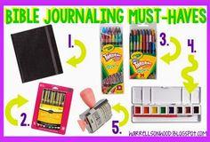bible journaling, supply list, bible journaling must haves. #illustratedfaith