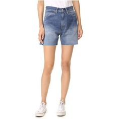 Levi's Levi's Vintage Clothing 1950s 701 Cutoff Shorts ($67) ❤ liked on Polyvore featuring shorts, landscape, cutoff shorts, levi cut offs, zipper shorts, levi shorts and cut off shorts