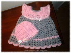 Steek voor steek: gratis patroon gehaakt jurkje, Nederlands, #haken, baby, haakpatroon