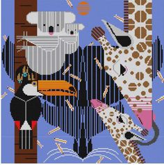 It's not your Grandmother's Needlepoint: New Charley Harper!