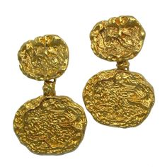 1970s Vermeil Ear Pendants | From a unique collection of vintage drop earrings at http://www.1stdibs.com/jewelry/earrings/drop-earrings/