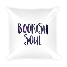 Bookish Soul - Reader Pillow - Bookish Pillow - Literary Inspired - Space Typography - Bookish Gift - Gifts For Readers - Bookworm - Books by BookishSerendipityCo on Etsy https://www.etsy.com/listing/291116103/bookish-soul-reader-pillow-bookish