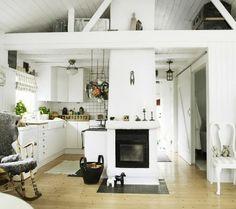 #white #interior #kitchen