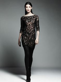 Catherine Malandrino for DesigNation embroidered mesh dress