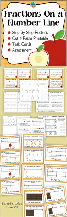 84 best upper elementary math images on pinterest secondary school fractions on a number line 3rd grade fandeluxe Gallery