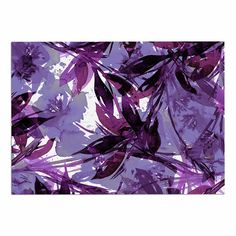 KESS InHouse Ebi Emporium 'Floral Fiesta-Purple Multi' Lavender Watercolor Dog Place Mat, 13' x 18' -- You can get additional details, click the image : Dog food container