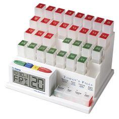 MedCenter (70265) 31 Day Pill Organizer with Reminder System MedCenter.