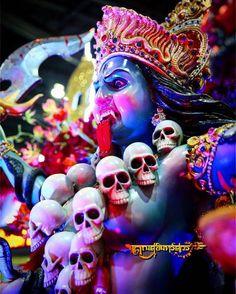 Image may contain: 1 person Jay Maa Kali, Kali Mata, Maa Image, Bali Painting, Ganesh Wallpaper, Ganesh Images, Kali Goddess, Avatar, Krishna Art