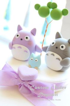 totoro cake topperCustom Order Deposit for the lovely by kikuike
