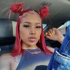 Ombre Red Human Hair Wigs Short Bob Wigs Lace Frontal Wig Color Lace Front Wigs With Baby Hair Remyblue Peruvian Remy Hair Dyed Natural Hair, Natural Hair Styles, Short Hair Styles, Cute Natural Hairstyles, Red Lace Front Wig, Short Lace Front Wigs, Edges Hair, Baddie Hairstyles, Latina Hairstyles