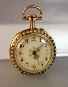 Lot #25: Antique 18kt. Gold Ladies Pocket Watch
