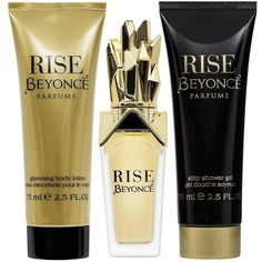 Beyonce Beyonce Rise 30Ml Edp Shower Gel + Body Lotion Gift Set (44 BAM) ❤ liked on Polyvore featuring beauty products, gift sets & kits and eau de perfume
