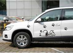 2013 Hot sales!!! Cartoon Snoopy car stickers for car door.the whole body of car free shipping 2pcs $19.80