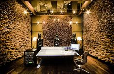 blackbird studio diffusers - known as the most acoustically perfect studio in the world