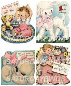 Vintage Birthday Greeting Cards