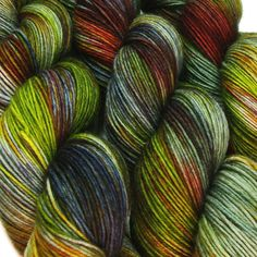 LOTHLORIEN Lord of the Rings hand dyed fingering sock yarn sw wool nylon 3.5oz 460 yards by Lanitiumexmachina
