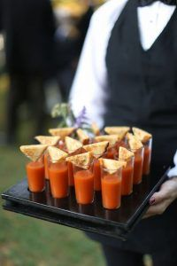 Wedding food ideas for fall tomato soup shots outdoor fall wedding reception at vineyards tasty in . wedding food ideas for fall Wedding Snacks, Wedding Appetizers, Wedding Reception Food, Wedding Catering, Reception Ideas, Fall Appetizers, Drinks Wedding, Party Drinks, Fall Wedding Foods